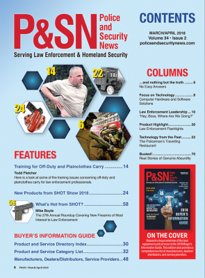 PSN Table of Contents March April 2018 Issue