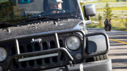 Jeep with driver