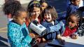 Children using police radar.
