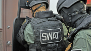 Man in SWAT gear