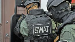 Man in SWAT gear