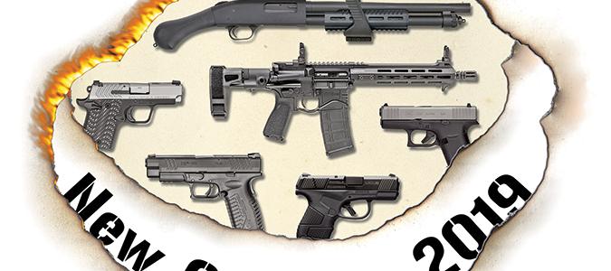Several guns and rifles displayed.