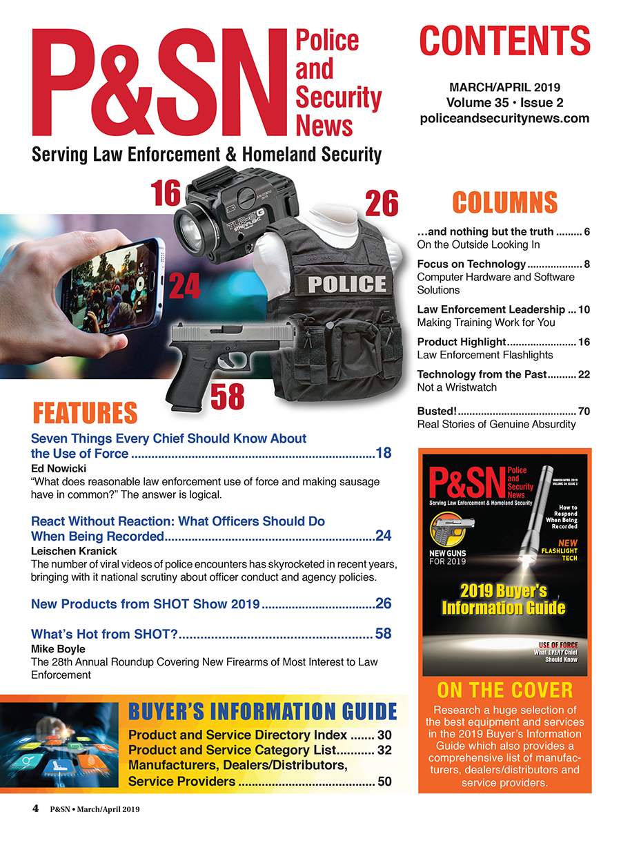 Police and Security News Table of Contents