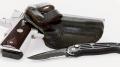 A knife and knife belt.