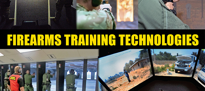 A collage of police training images.