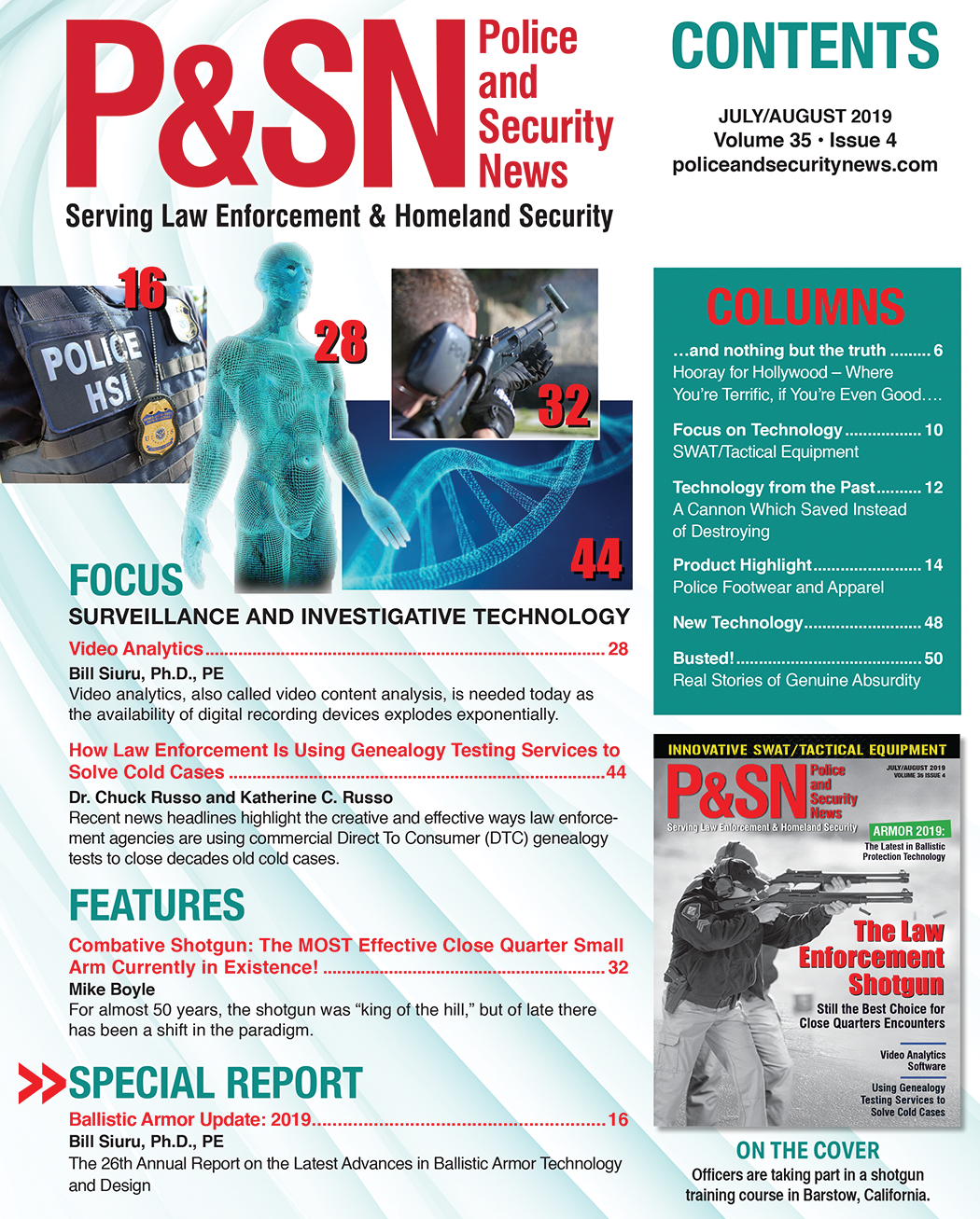 July August P&SN Table of Contents