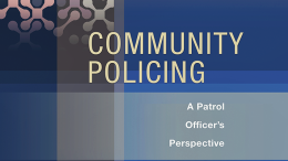 Book cover for Community Policing