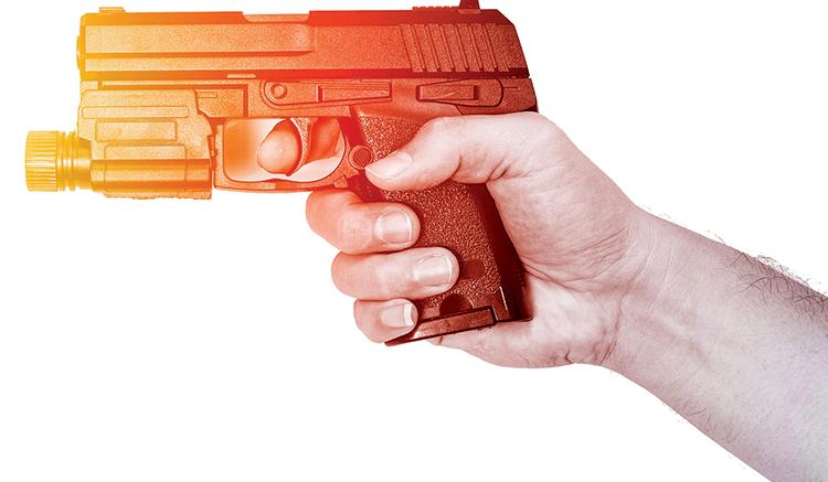 Plastic Gun Illustration for Shot Show Article