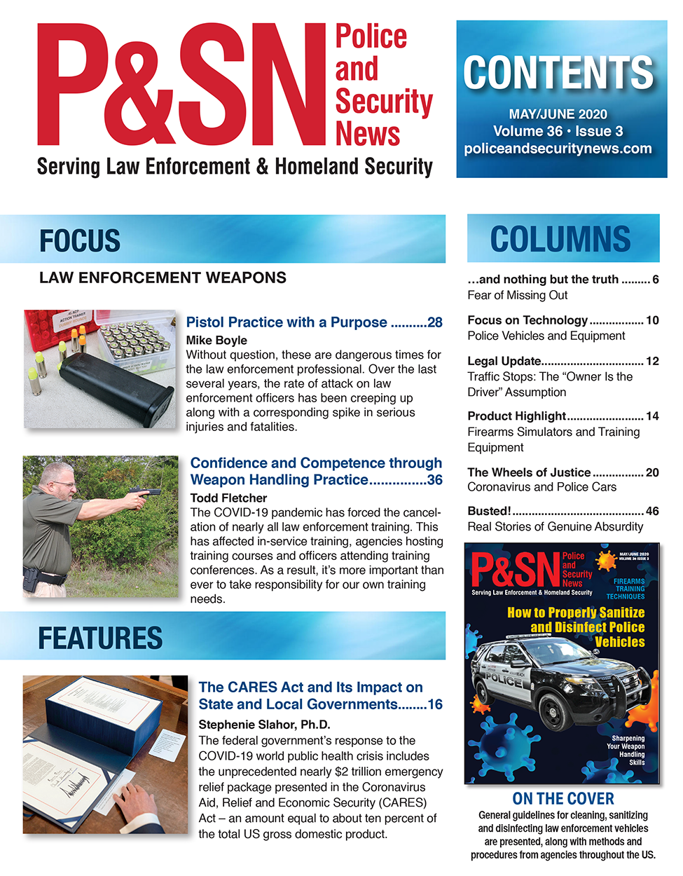 May June Police and Security News TOC