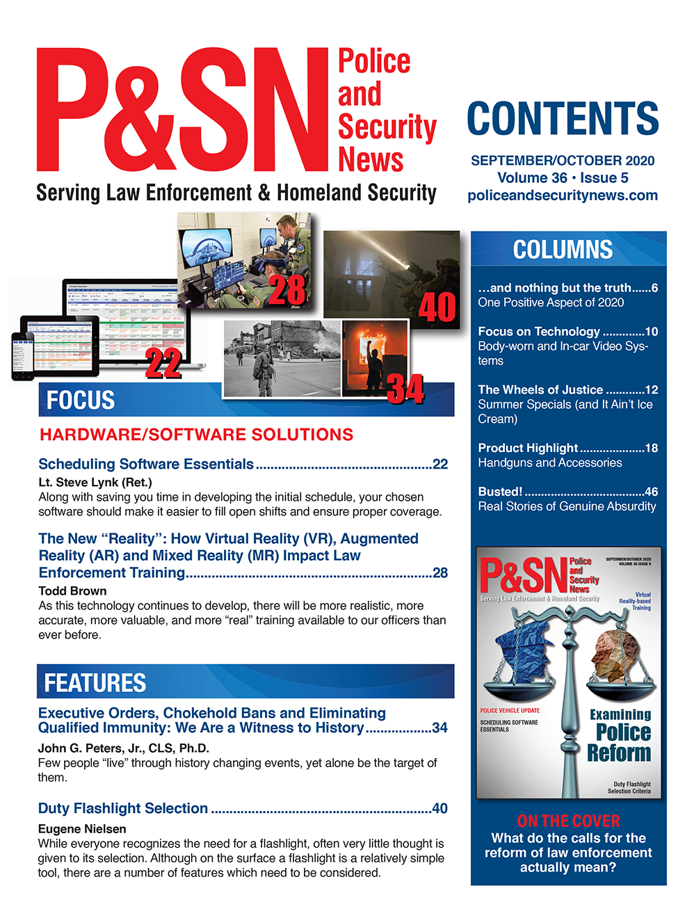 Table of Contents Sept Oct Police and Security News