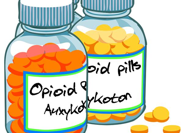2 bottles will opiod pills inside.