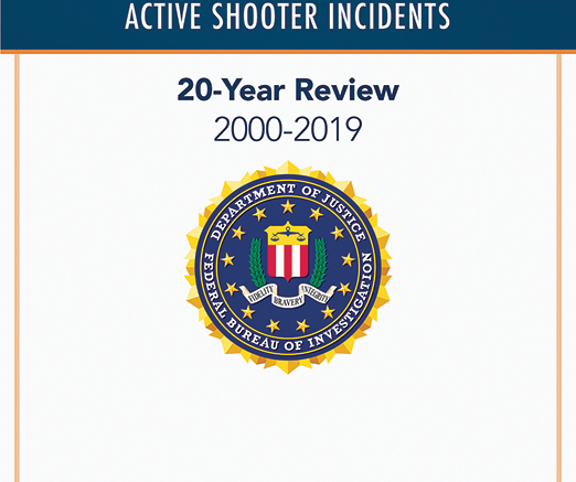 Active Shooter Incidents Publication Cover